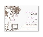 Gingham Lanterns - Save the Date Card