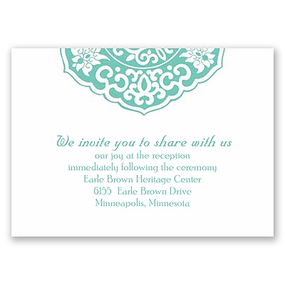 Rustic Brooch - Reception Card