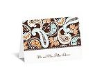 Vintage Paisley - Thank You Card and Envelope