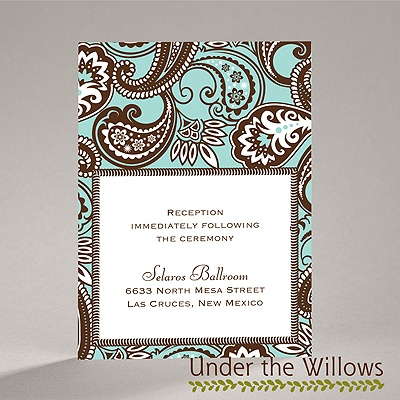 Vintage Paisley - Reception Card