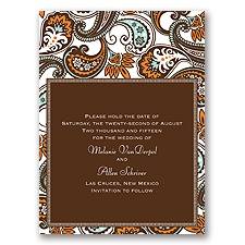 Vintage Paisley - Save the Date Card