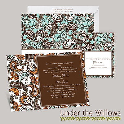 Vintage Paisley - Invitation