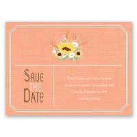 Country Sunflowers - Corabell - Save the Date Card