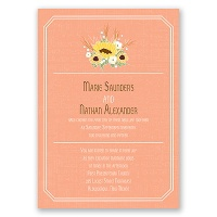 Country Sunflowers - Corabell - Invitation