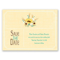 Country Sunflowers - Honey - Save the Date Card