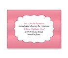 Chic Crest - Reception Card