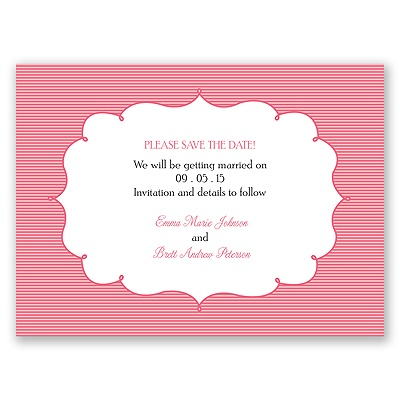 Chic Crest - Save the Date Card