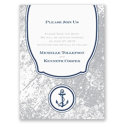 Vintage Nautical - Save the Date Card