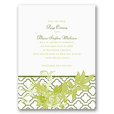 Rustic Roses - Save the Date Card