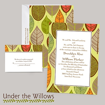 Rustic Leaves - Limelight - Invitation
