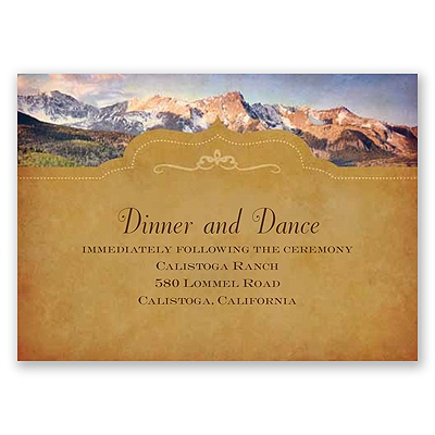 Sierra Splendor - Reception Card