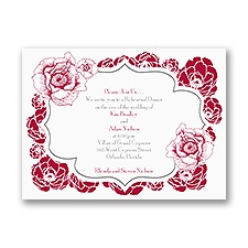 Pretty Flowers - Rehearsal Dinner Invitation