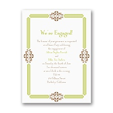 Bling Border - Engagement Party Invitation