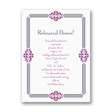 Bling Border - Rehearsal Dinner Invitation