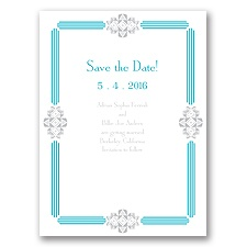 Bling Border - Save the Date Card