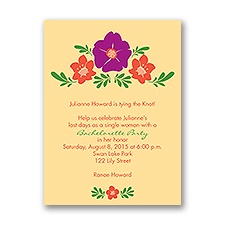 Blooming Vintage - Butter - Bachelorette Party Invitation