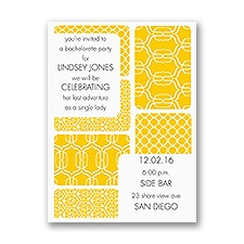 Bold Patterns - Bachelorette Party Invitation