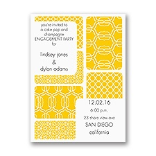 Bold Patterns - Engagement Party Invitation