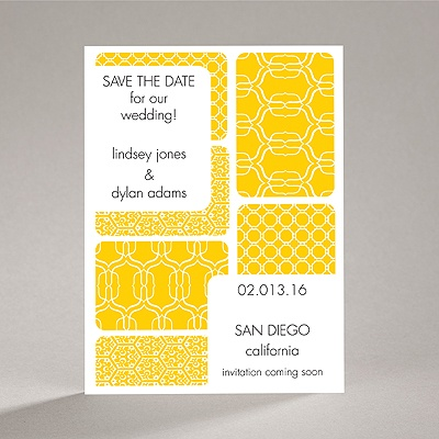 Bold Patterns - Save the Date Card