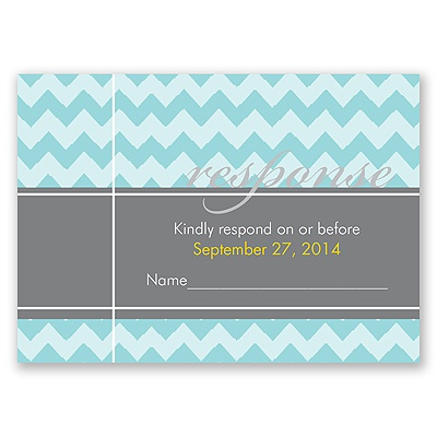 So Chevron - Response Card and Envelope