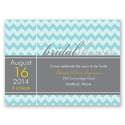 so chevron bridal shower invitation | modern bridal shower invites at ...