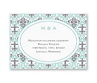 Damask Cross - Reception Card