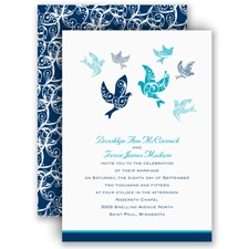 Filigree Doves - Invitation
