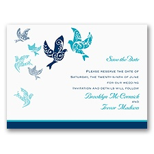 Filigree Doves - Save the Date Card
