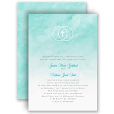 United In Faith - Aqua - Invitation