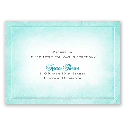 United In Faith - Aqua - Reception Card