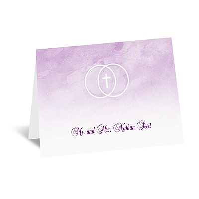 United In Faith - Freesia - Note Card and Envelope