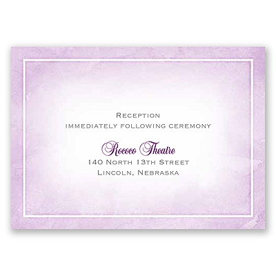 United In Faith - Freesia - Reception Card