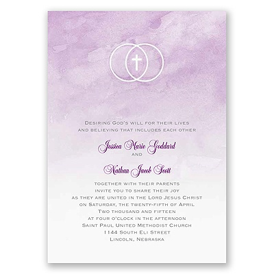 United In Faith - Freesia - Invitation