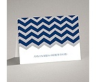Chevron Style - Note Card and Envelope
