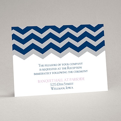 Chevron Style - Reception Card