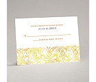 Filigree Damask - Canary - Response Card and Envelope