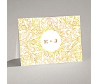 Filigree Damask - Canary - Note Card and Envelope