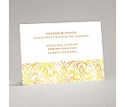 Filigree Damask - Canary - Reception Card