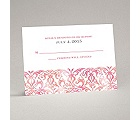 Filigree Damask - Melon - Response Card and Envelope