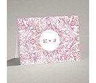 Filigree Damask - Melon - Note Card and Envelope