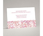 Filigree Damask - Melon - Reception Card