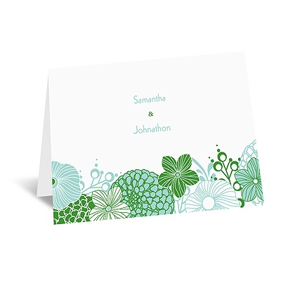 Retro Blossoms - Note Card and Envelope