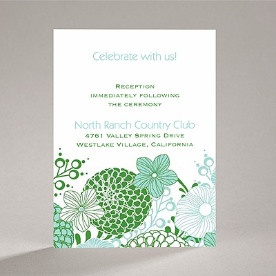 Retro Blossoms - Reception Card