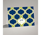 Retro Waves - Note Card and Envelope