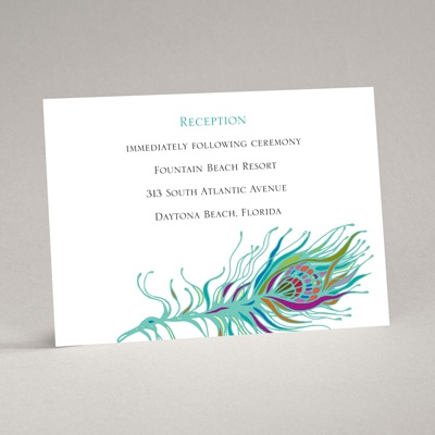 Nouveau Peacock - Reception Card