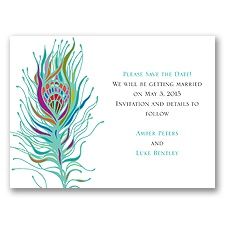 Nouveau Peacock - Save the Date Card