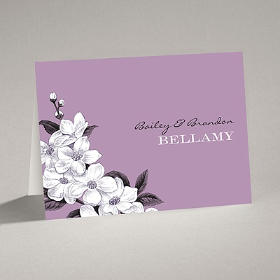 Dainty Blossoms - Lavender - Note Card and Envelope