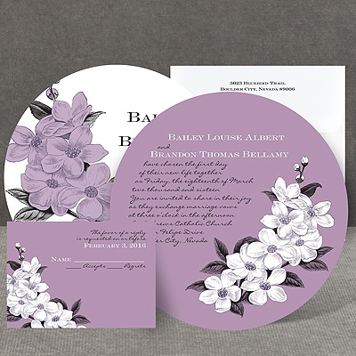 Dainty Blossoms - Lavender - Invitation