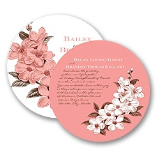 Dainty Blossoms - Melon - Invitation