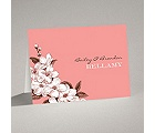 Dainty Blossoms - Melon - Note Card and Envelope
